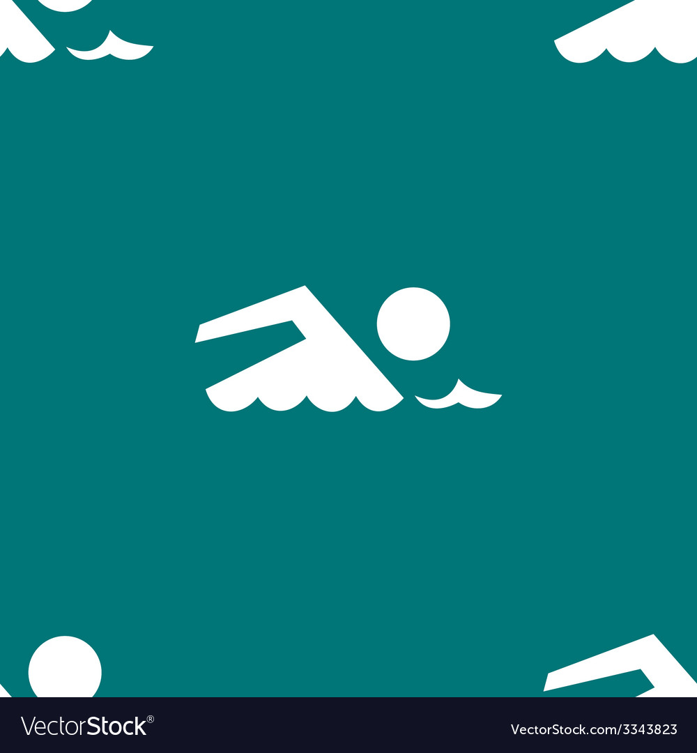 Swimmer pool web icon flat design seamless gray vector | Price: 1 Credit (USD $1)