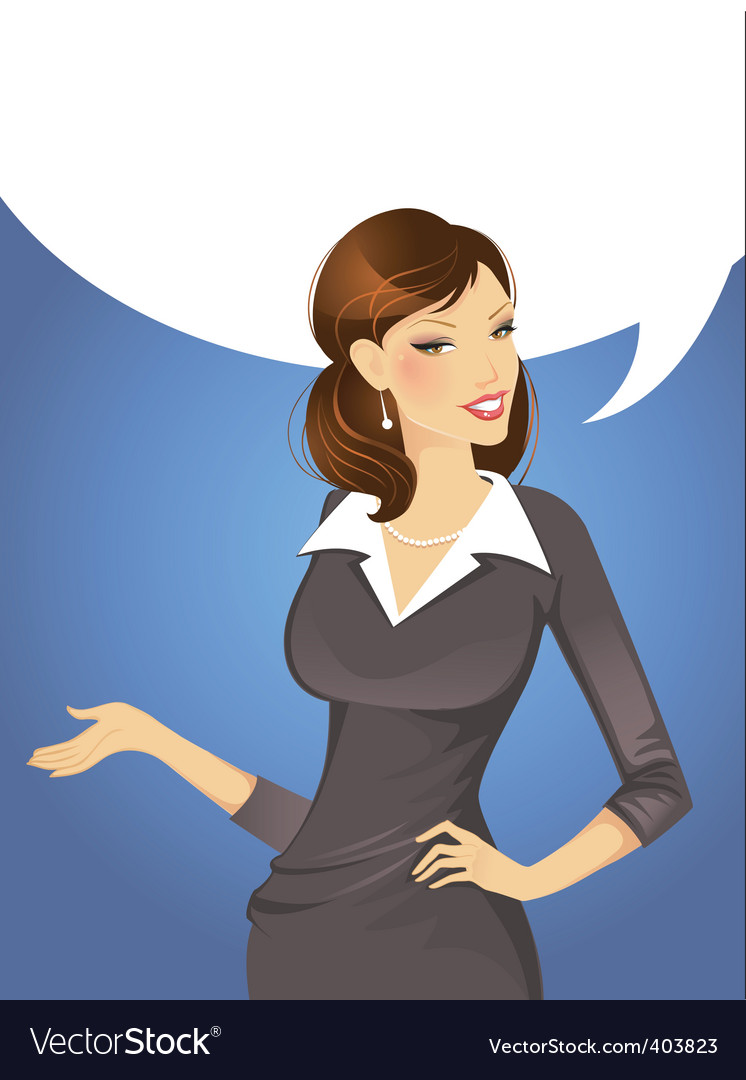 Woman speak vector | Price: 3 Credit (USD $3)
