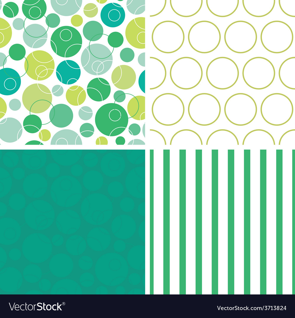 Abstract green circles set of four marching vector | Price: 1 Credit (USD $1)