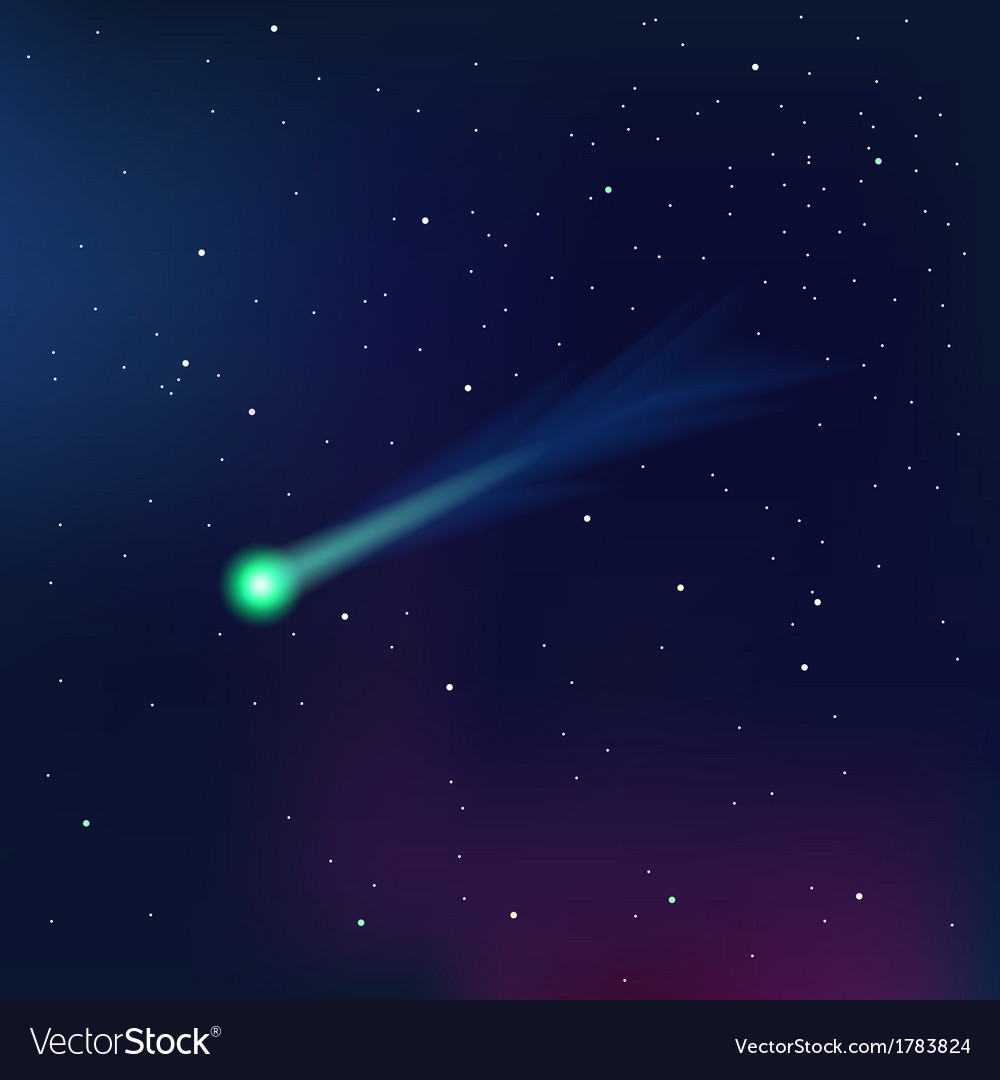 Comet on a starry sky vector | Price: 1 Credit (USD $1)