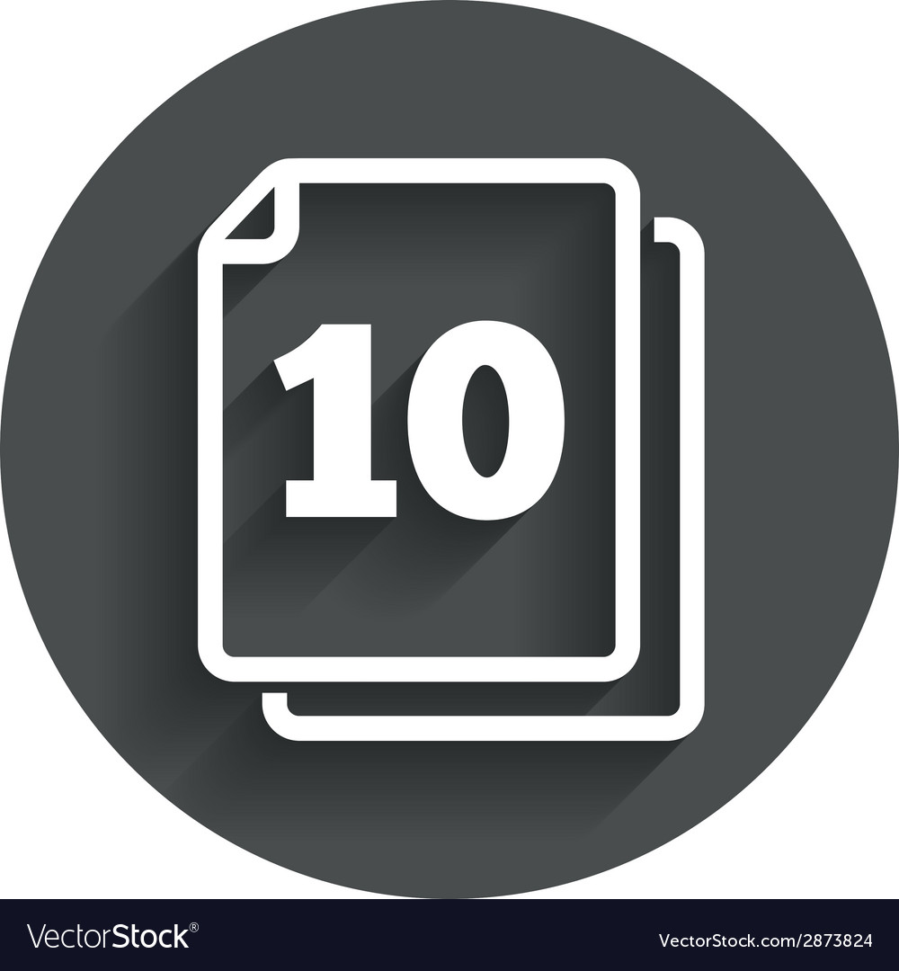 In pack 10 sheets sign icon 10 papers symbol vector | Price: 1 Credit (USD $1)