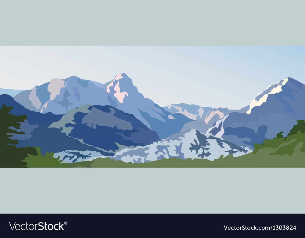 Mountains vector | Price: 1 Credit (USD $1)