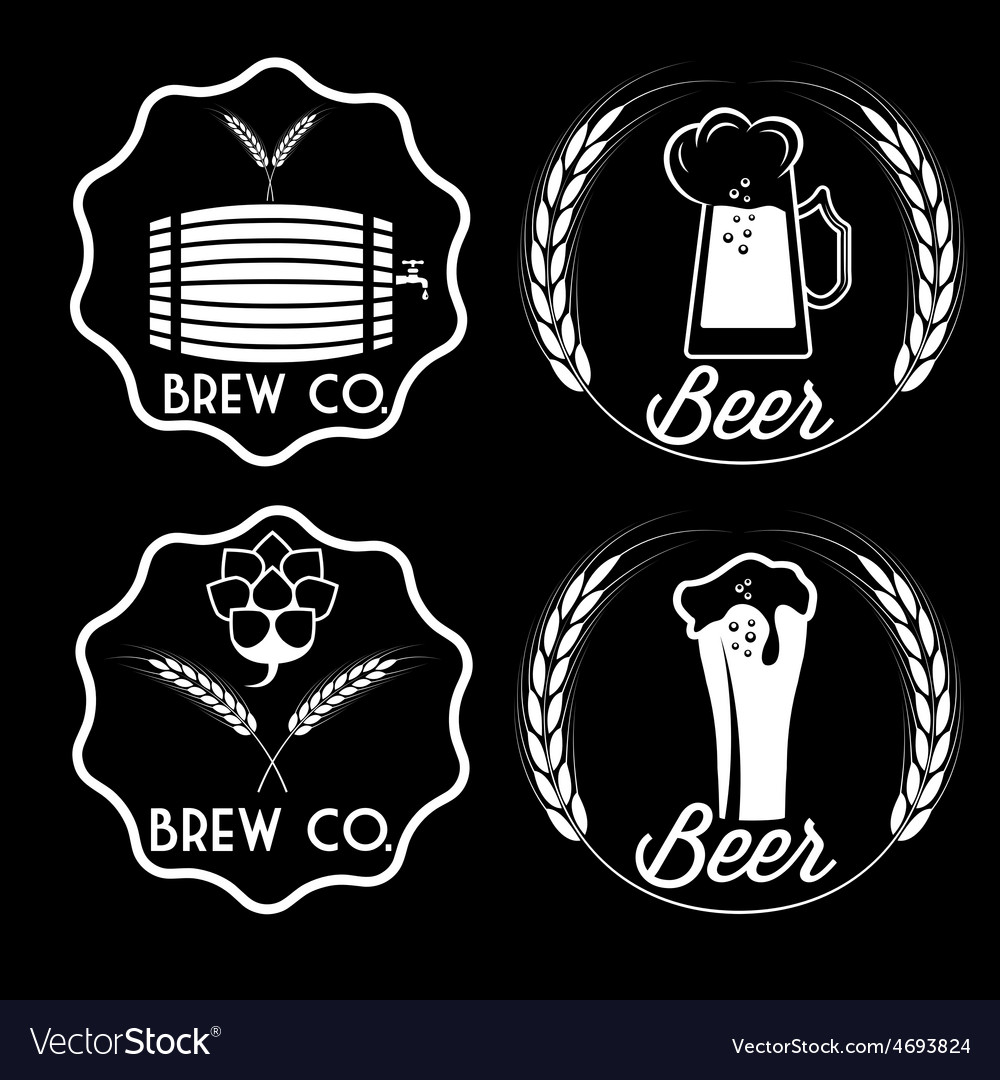 Set of beer emblems vector | Price: 1 Credit (USD $1)