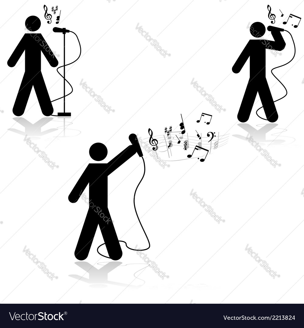Singer in live concert vector | Price: 1 Credit (USD $1)