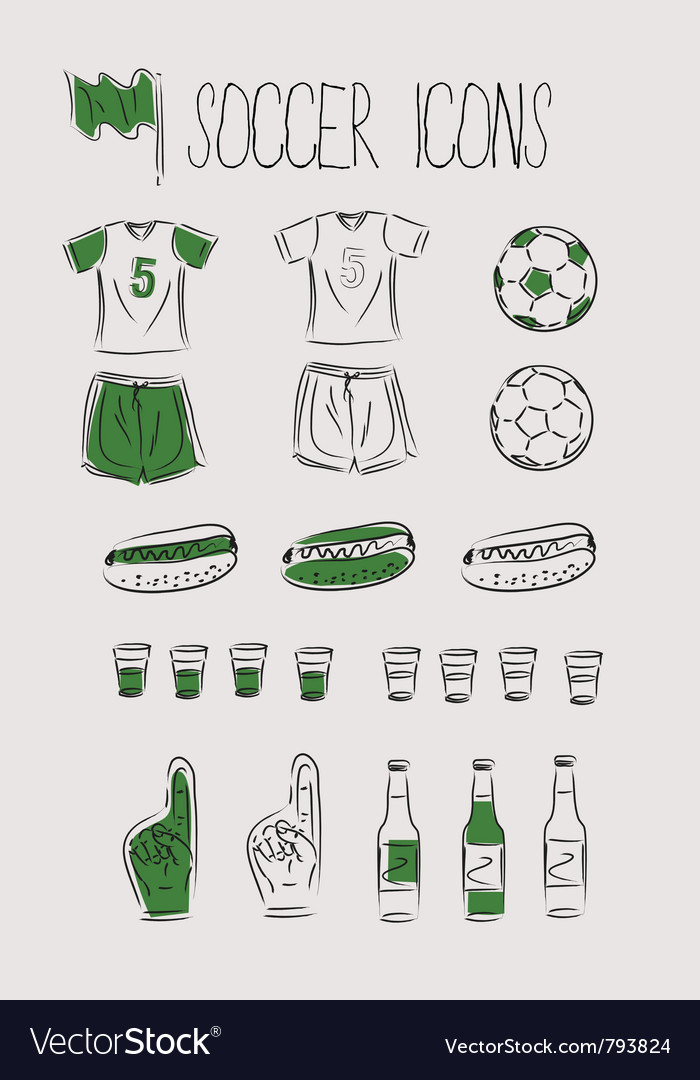 Soccerfootball icons vector   Price: 1 Credit (USD $1)