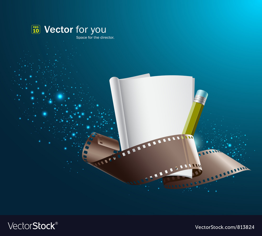 White paper note and film roll vector | Price: 1 Credit (USD $1)