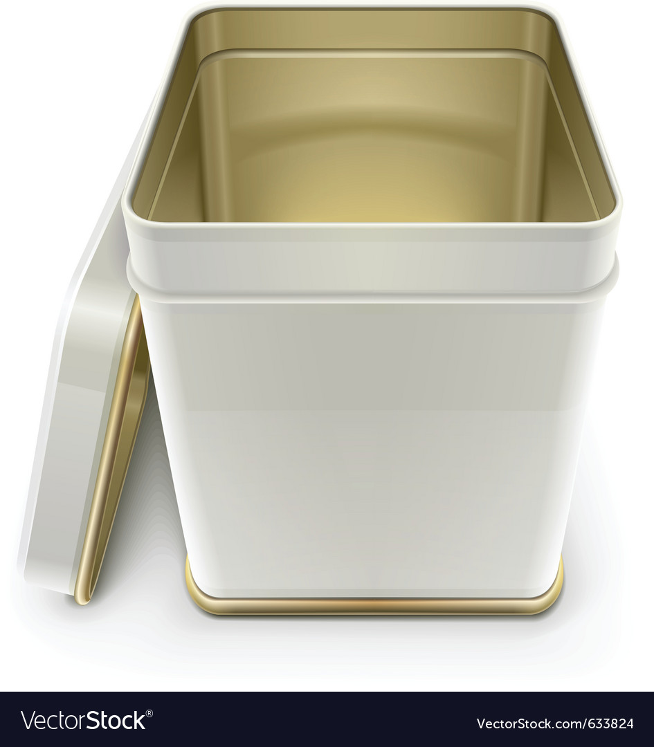 White tin box with lid vector | Price: 1 Credit (USD $1)