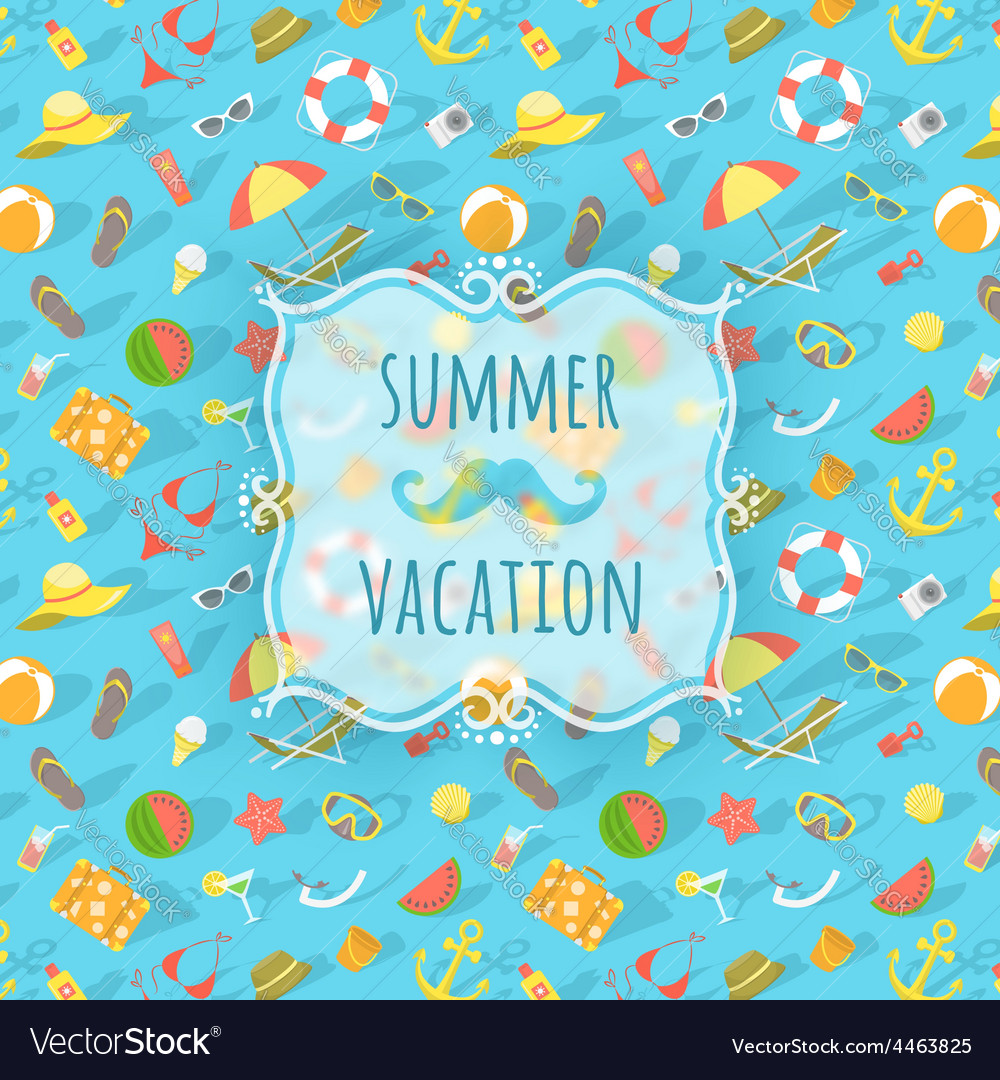 Blurred label on summer beach background vector | Price: 1 Credit (USD $1)