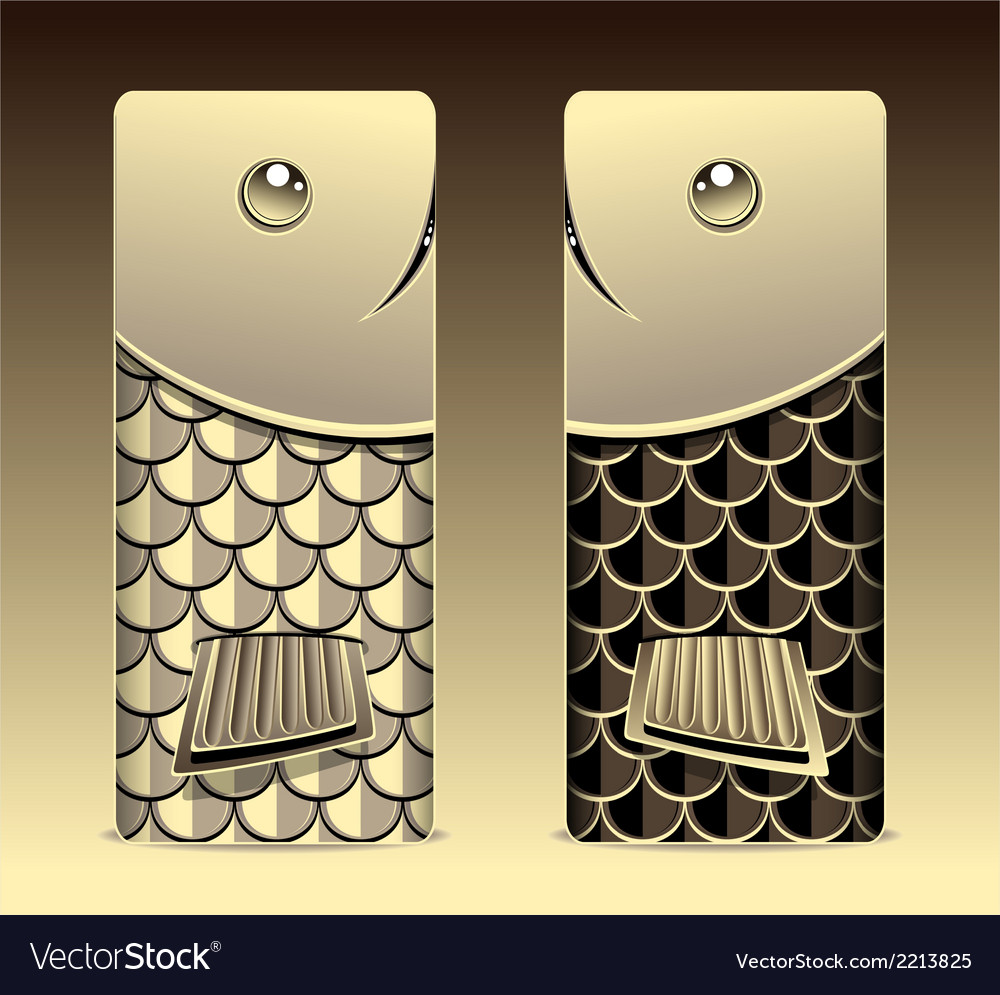 Bumper with seamless pattern fish scale gold vector | Price: 1 Credit (USD $1)