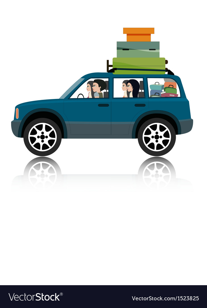 Car suv luggage vector | Price: 3 Credit (USD $3)