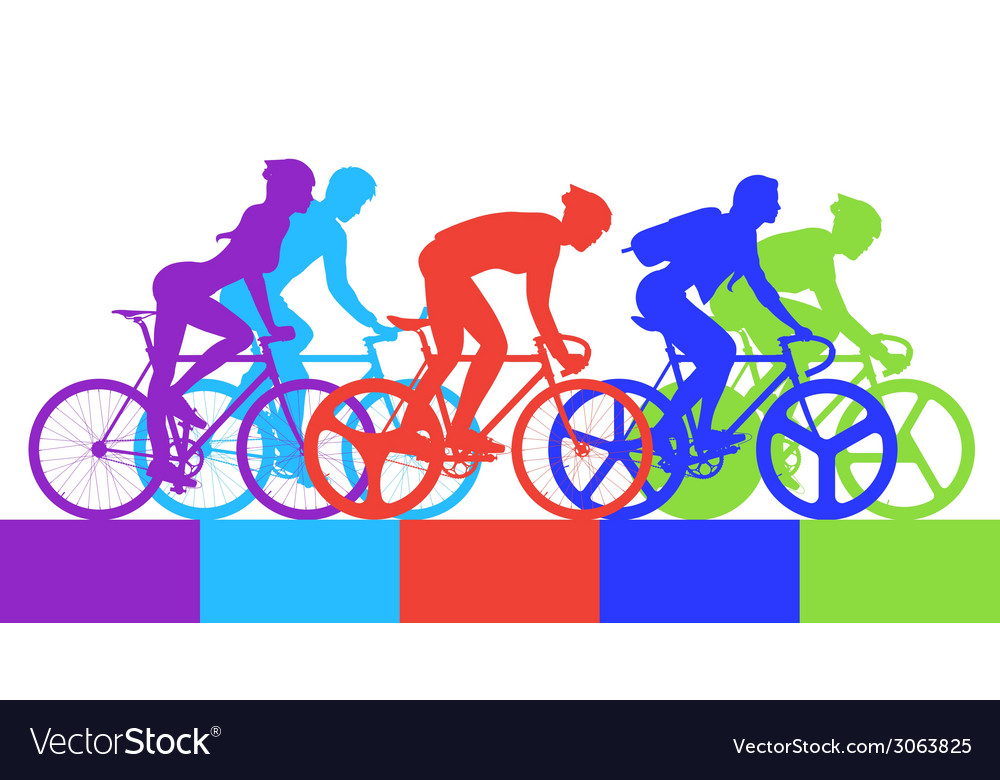 Cyclist in the bicycle race vector | Price: 1 Credit (USD $1)