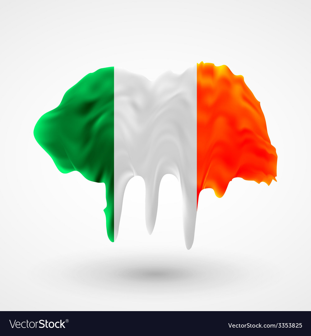 Flag of ireland painted colors vector | Price: 3 Credit (USD $3)