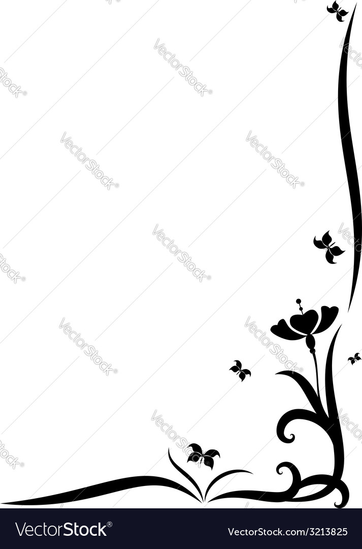 Flower and butterflies vector | Price: 1 Credit (USD $1)