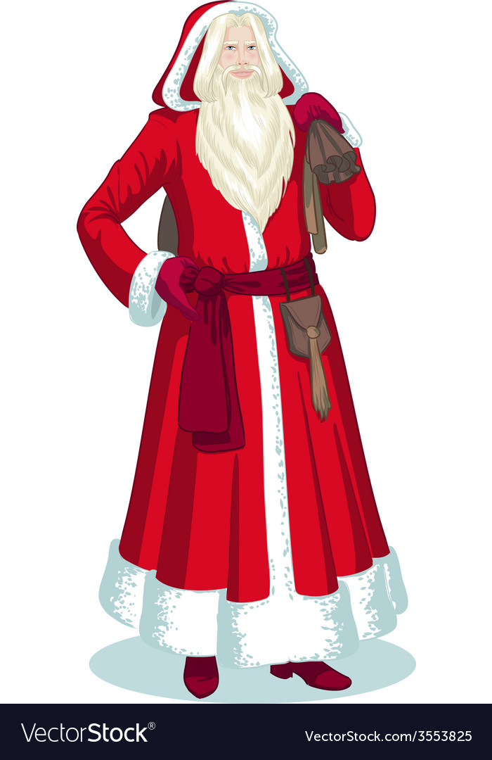French christmas character pere noel cartoon vector | Price: 1 Credit (USD $1)