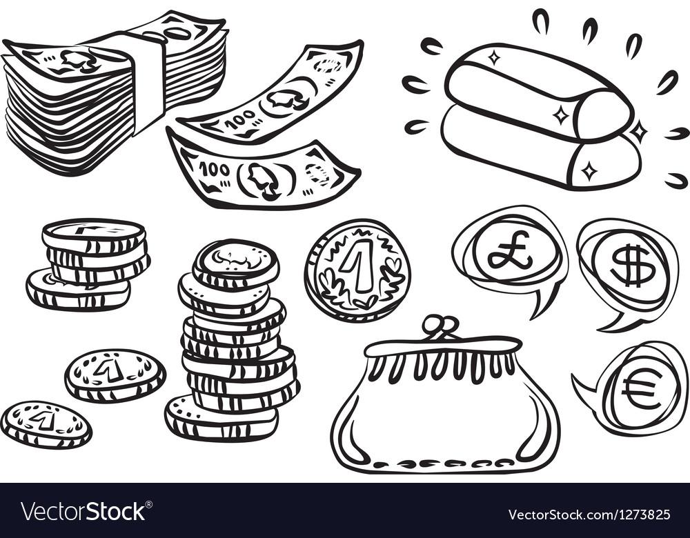 Hand drawn money art vector | Price: 1 Credit (USD $1)