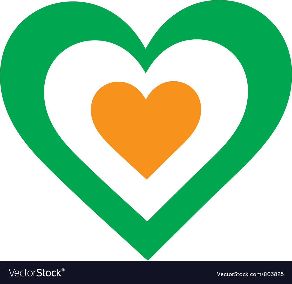 Irish heart vector | Price: 1 Credit (USD $1)