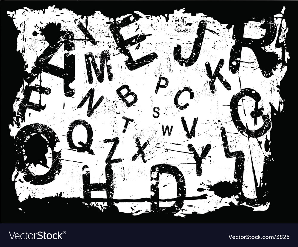 Letter grunge background vector | Price: 1 Credit (USD $1)