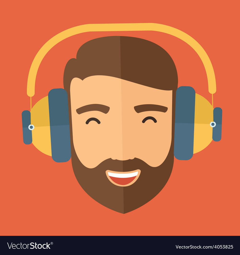 Listen to music vector | Price: 1 Credit (USD $1)