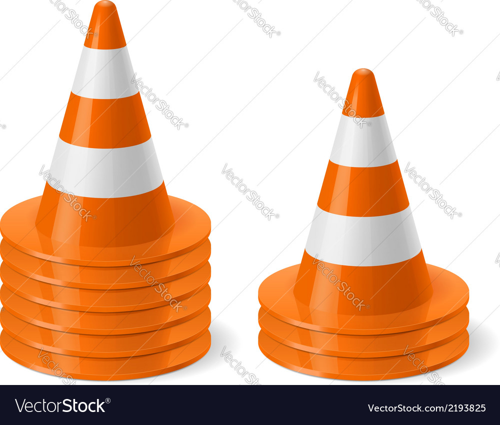 Piles of road cones vector | Price: 1 Credit (USD $1)
