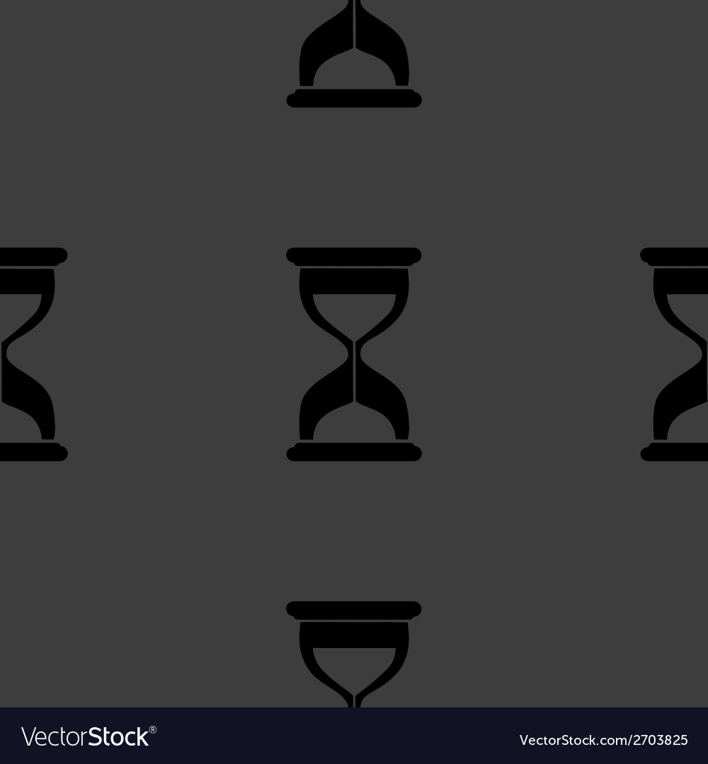 Sand clock glass timer web icon flat design vector | Price: 1 Credit (USD $1)