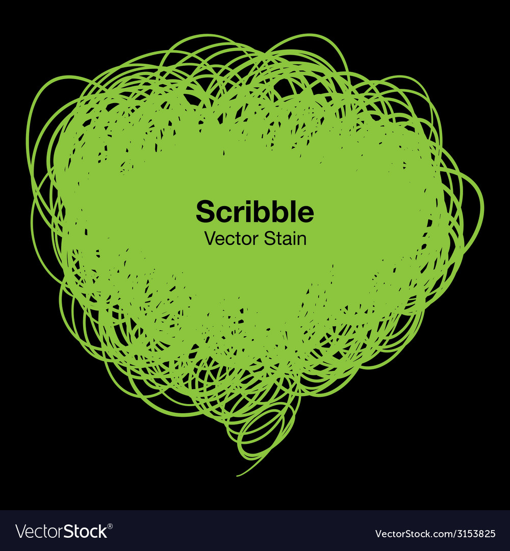 Scribble green bubble vector | Price: 1 Credit (USD $1)