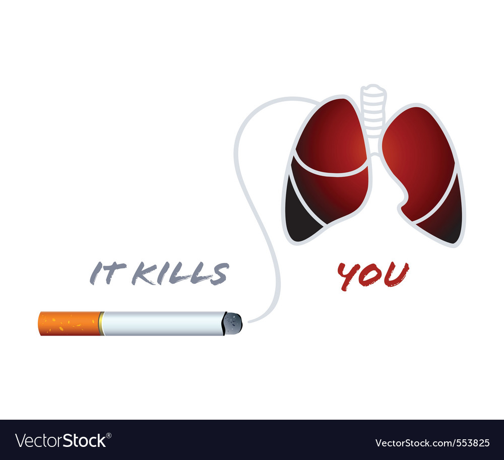 Smoking kills vector | Price: 1 Credit (USD $1)