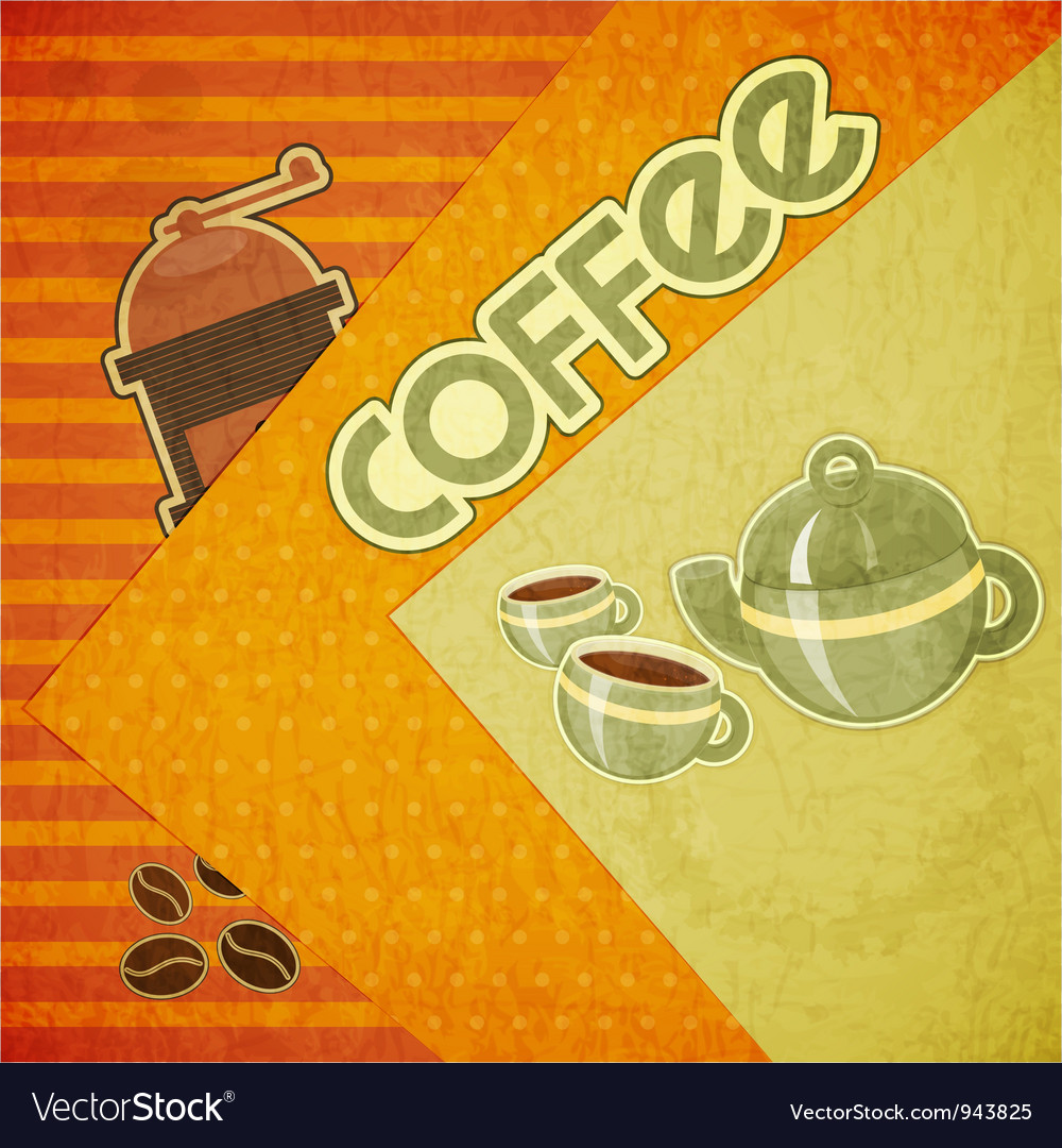 Template orange menu of coffee vector