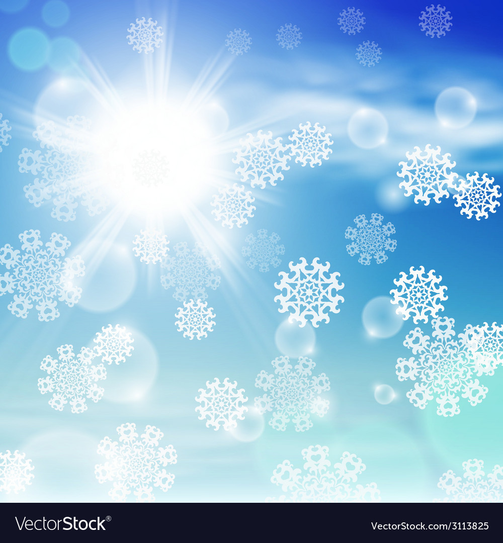 Winter sunny day background vector | Price: 1 Credit (USD $1)