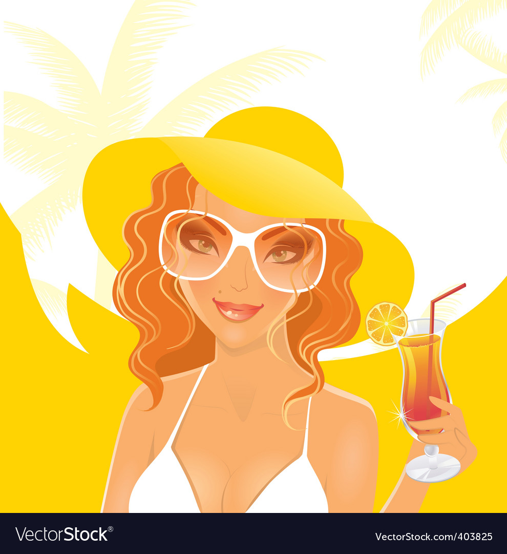 Women dream summer vector | Price: 3 Credit (USD $3)