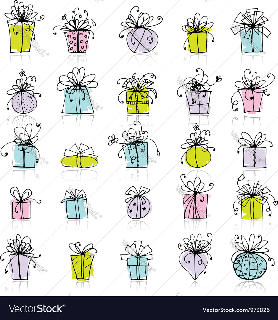 25 gift box icons for your design vector | Price: 1 Credit (USD $1)
