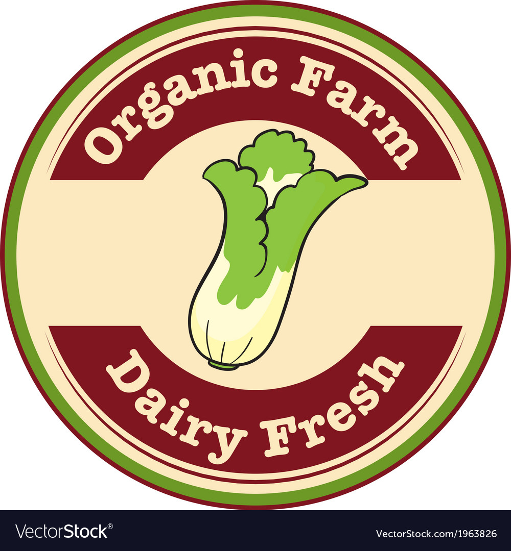 An organic farm and dairy fresh logo with a vector | Price: 1 Credit (USD $1)