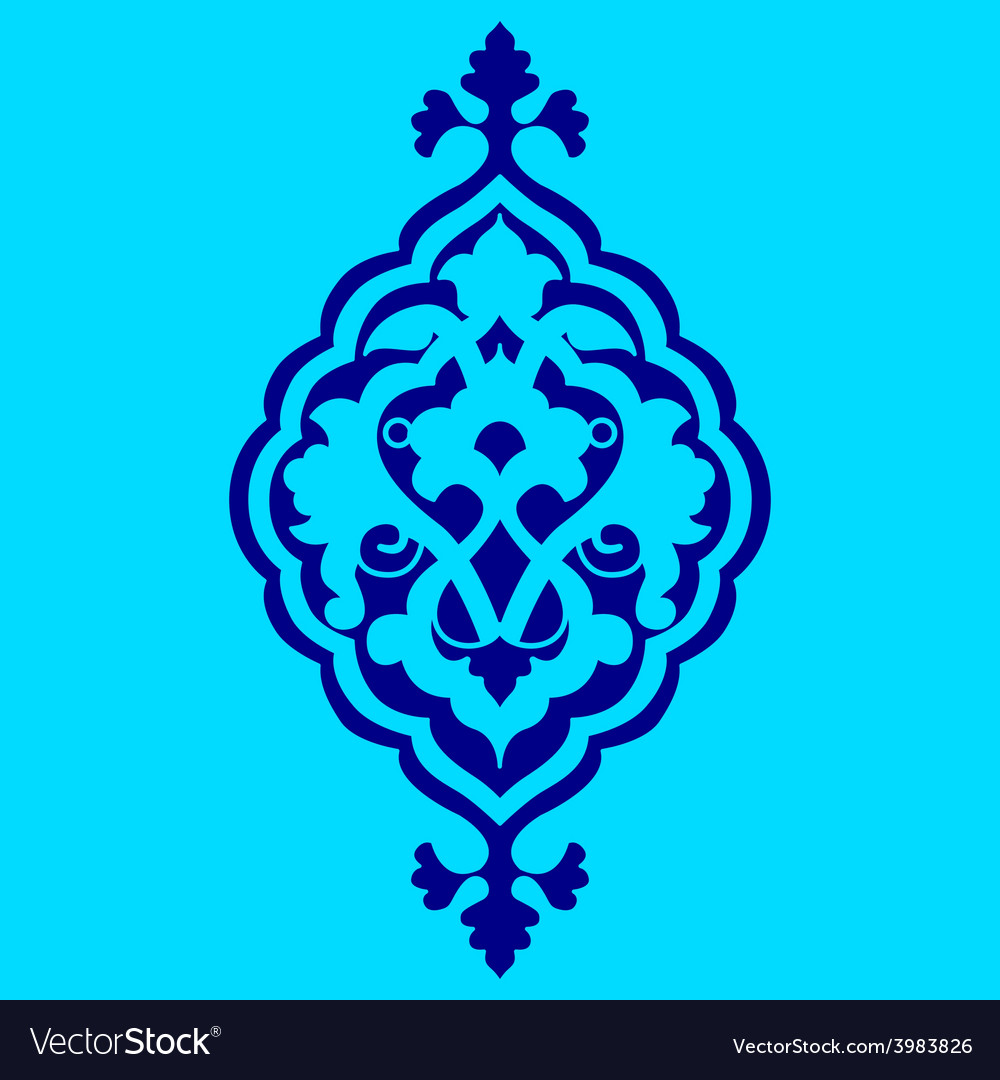 Artistic ottoman pattern series sixty nine vector | Price: 1 Credit (USD $1)
