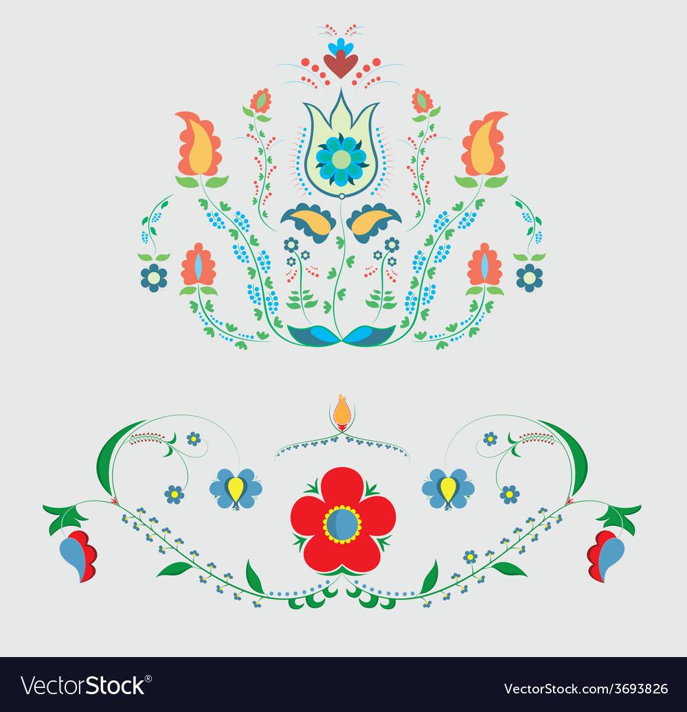 Crimean tatar floristic ornament vector | Price: 1 Credit (USD $1)