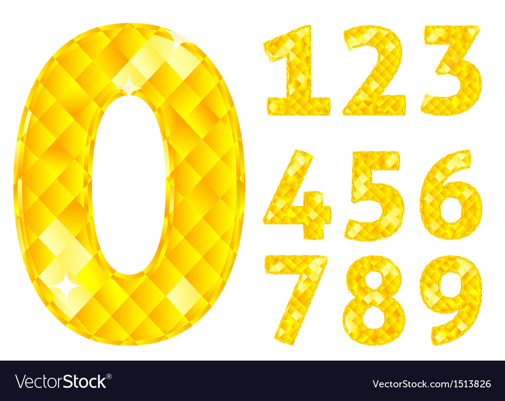 Diamond numbers vector | Price: 1 Credit (USD $1)