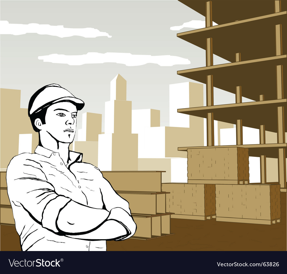 Engineer architect builder vector | Price: 1 Credit (USD $1)