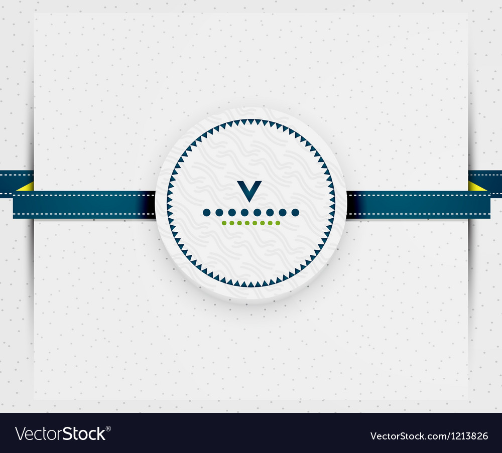 Paper page with blue ribbon vector | Price: 1 Credit (USD $1)