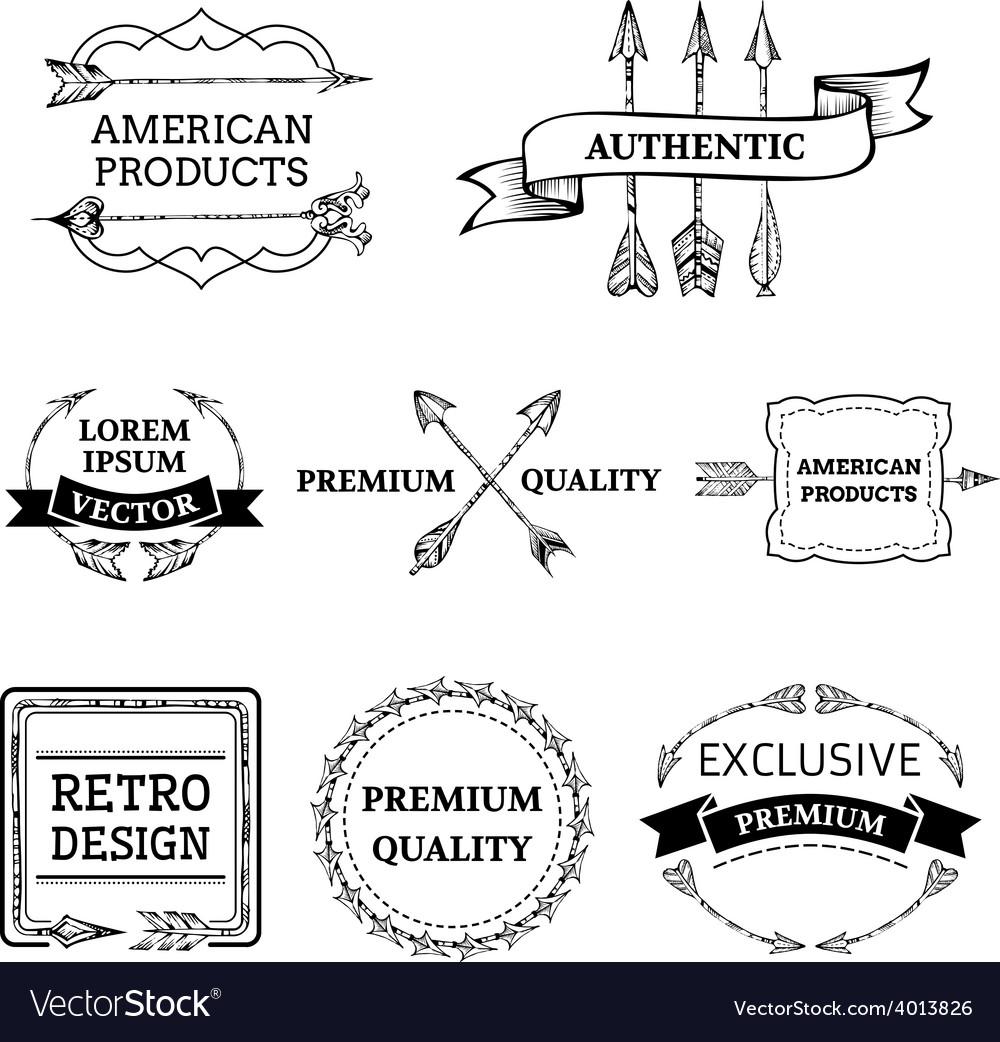 Set of arrows design elements vector   Price: 1 Credit (USD $1)