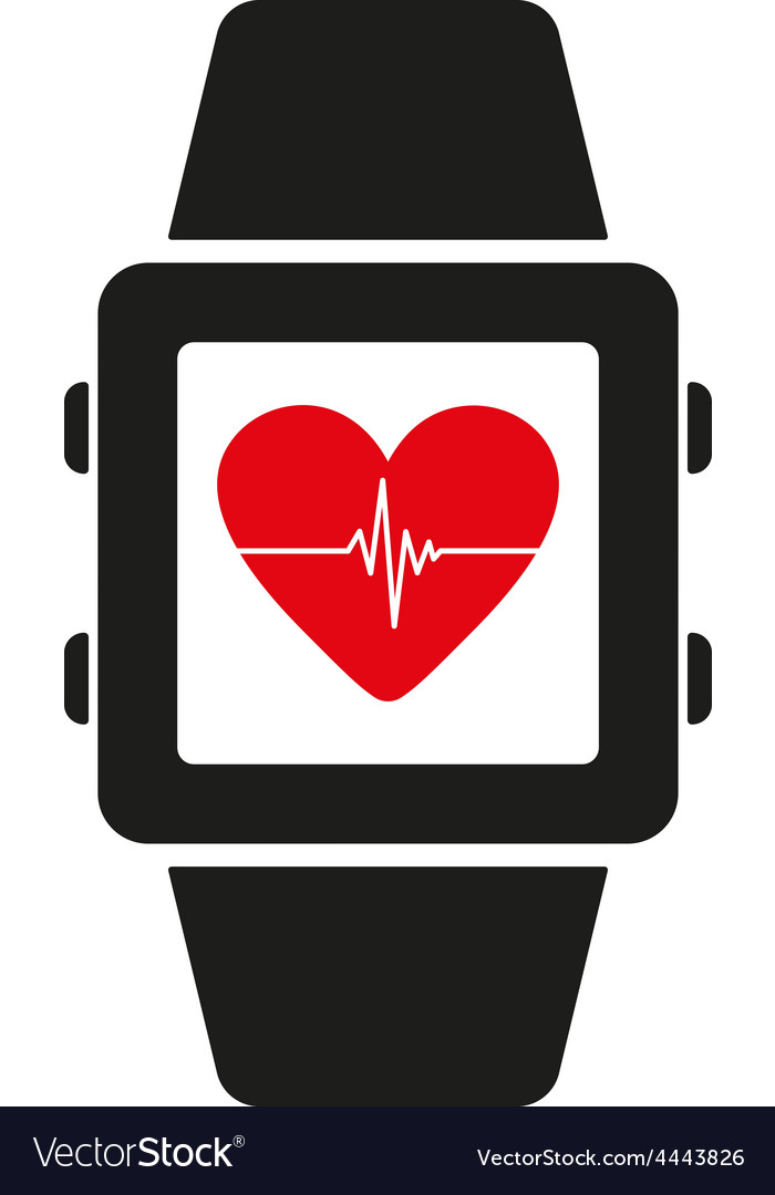 The smart watch icon fitness bracelet symbol vector | Price: 1 Credit (USD $1)