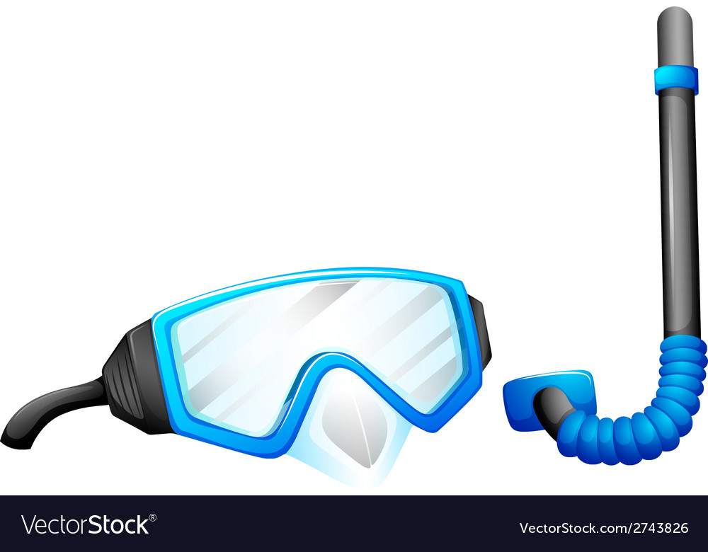 Snorkeling devices vector | Price: 1 Credit (USD $1)