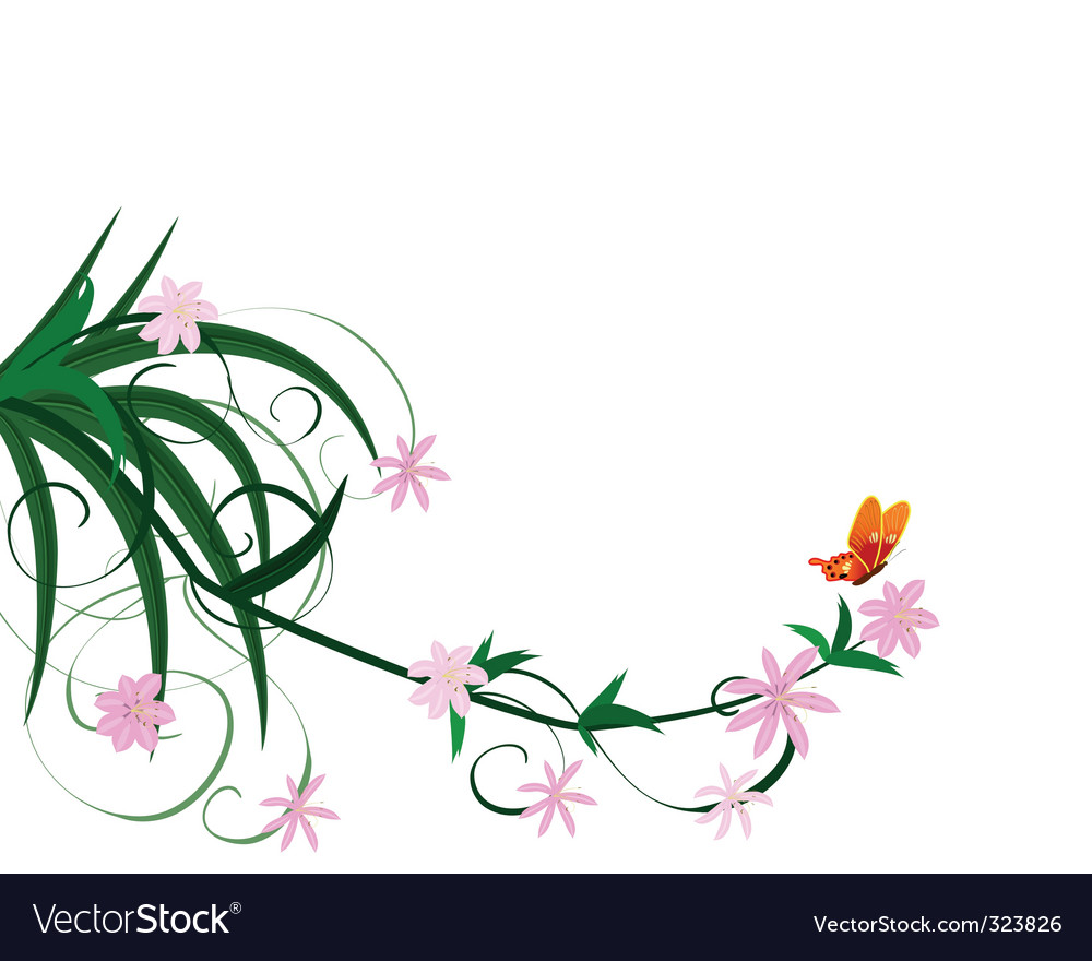 Spring flower ornament vector | Price: 1 Credit (USD $1)