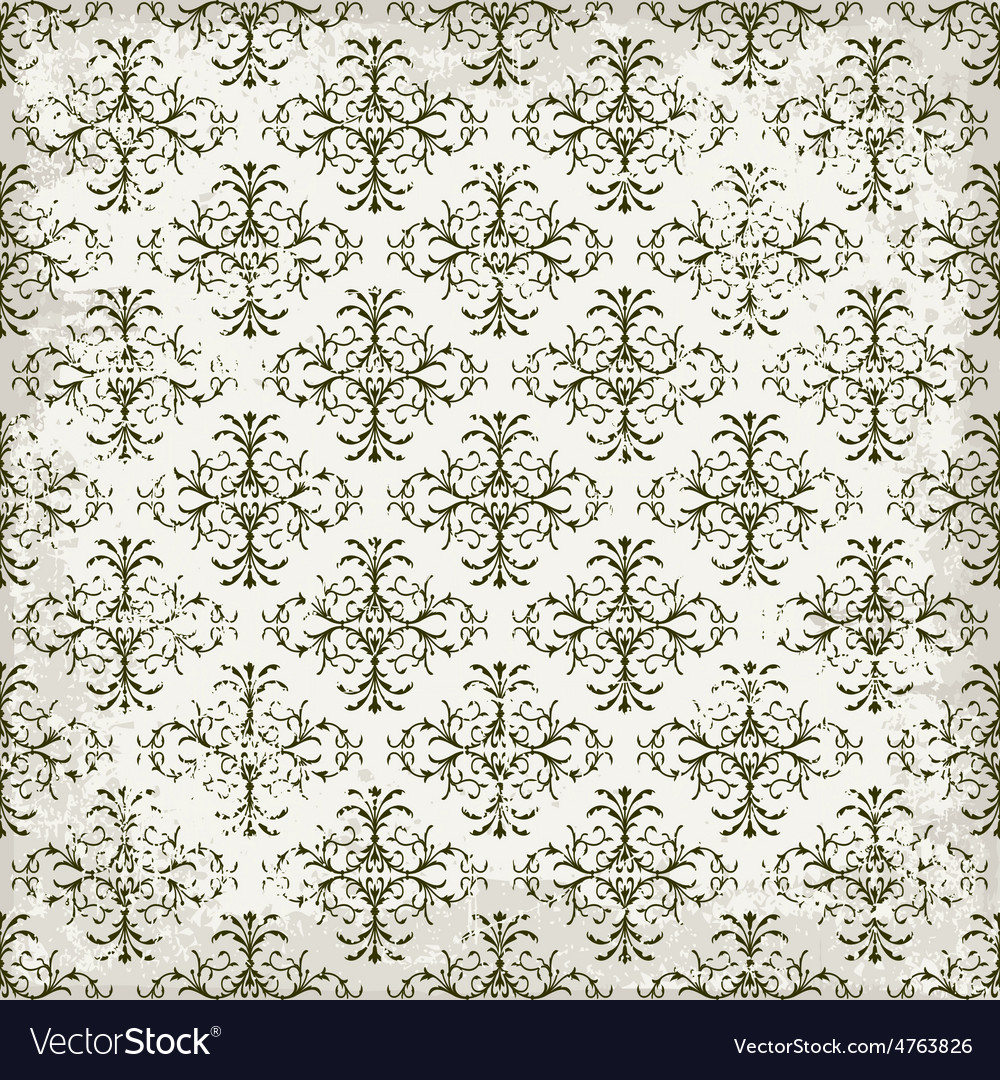 Vintage wallpaper in grunge style vector | Price: 1 Credit (USD $1)