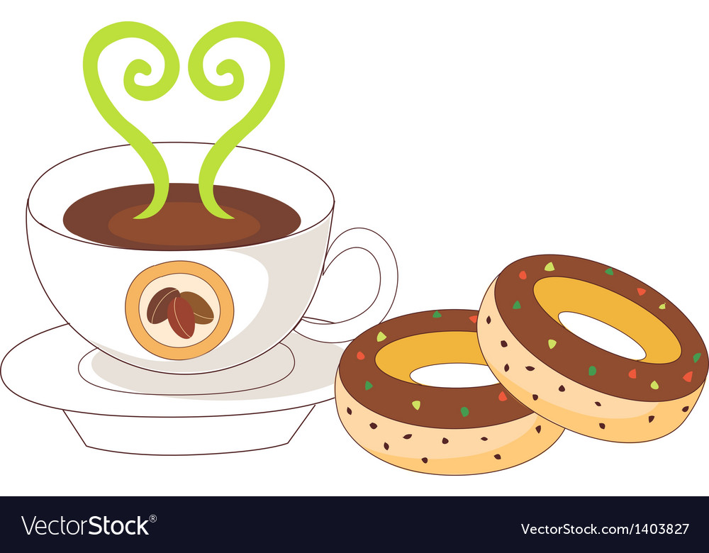 A coffee and doughnut vector | Price: 1 Credit (USD $1)
