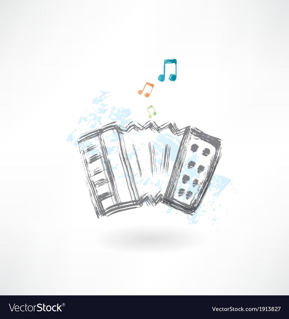 Accordion grunge icon vector | Price: 1 Credit (USD $1)
