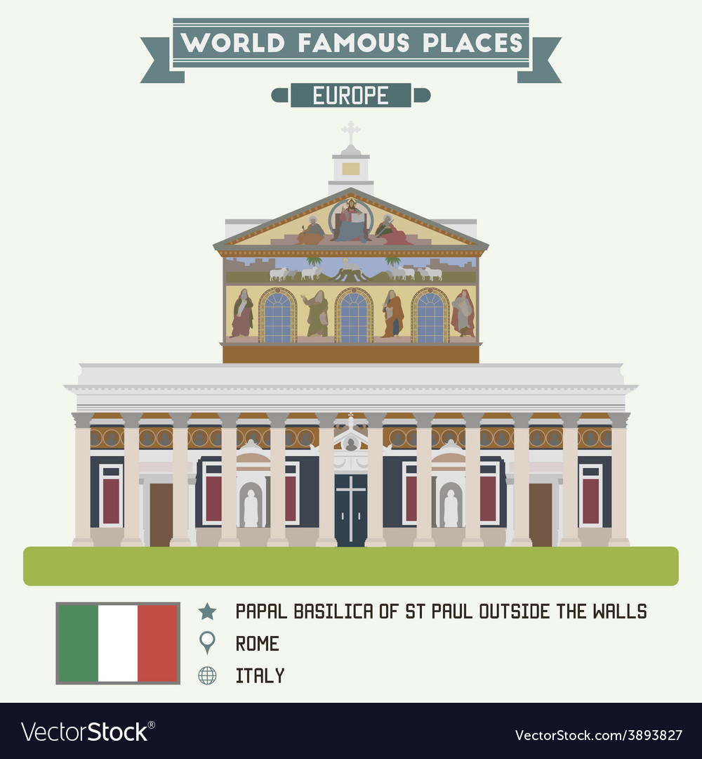Basilica rome vector | Price: 1 Credit (USD $1)
