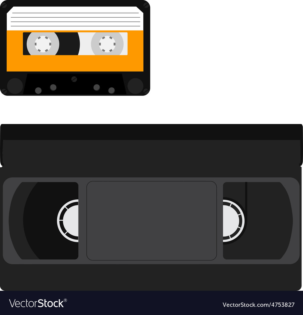 Cassette and vhs tape vector | Price: 1 Credit (USD $1)