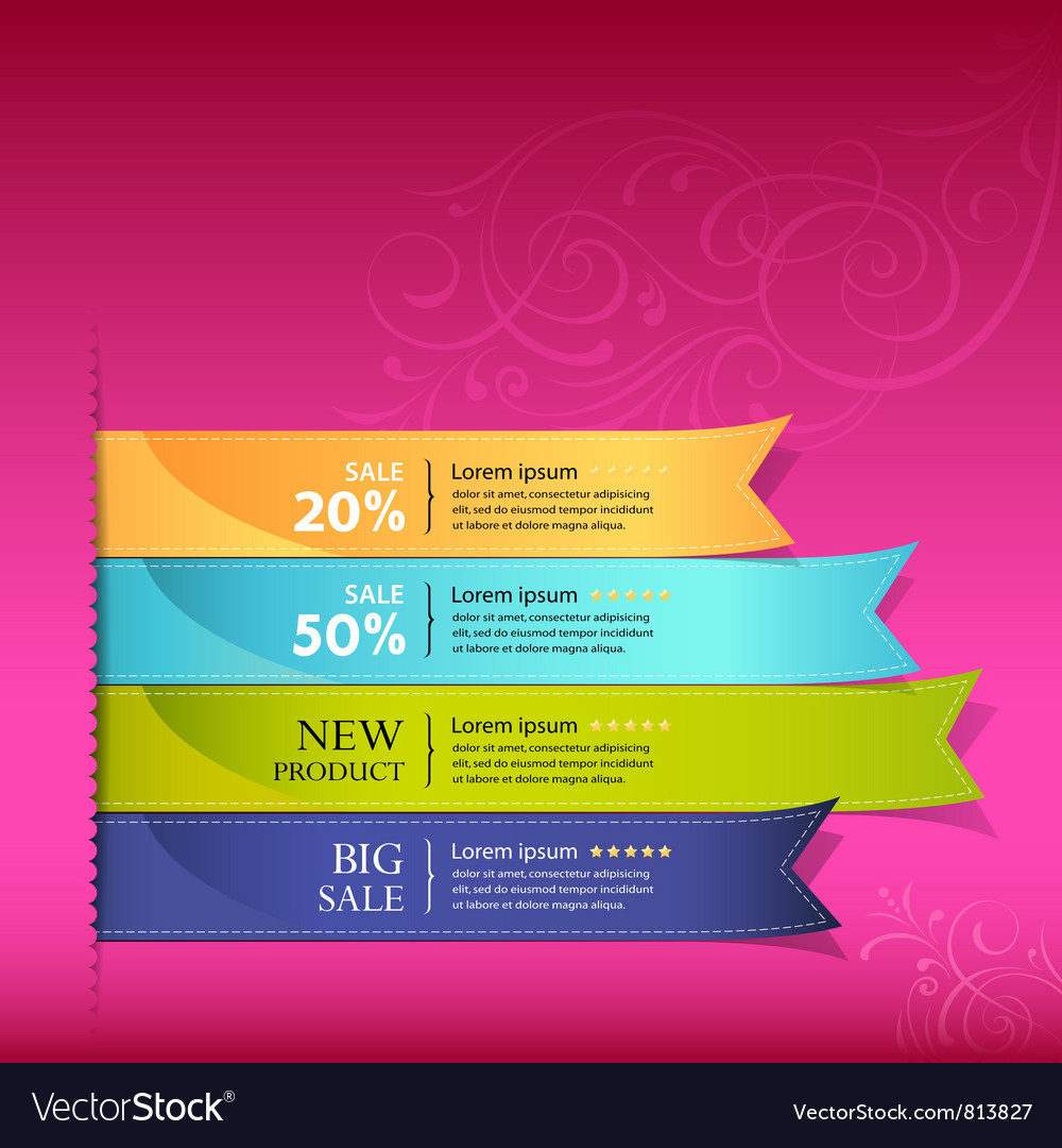 Colorful ribbon promotional products vector | Price: 1 Credit (USD $1)