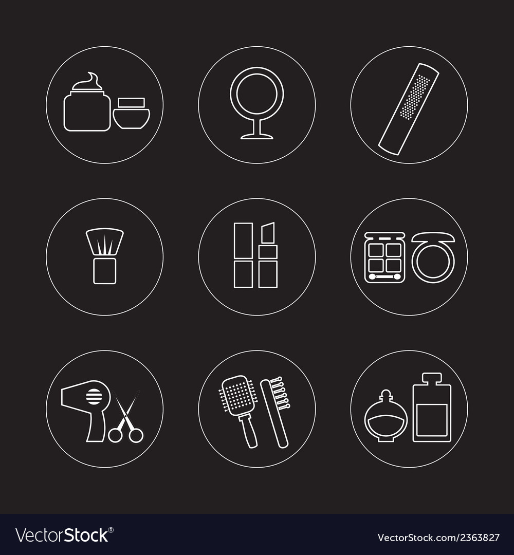 Cosmetics icons vector | Price: 1 Credit (USD $1)