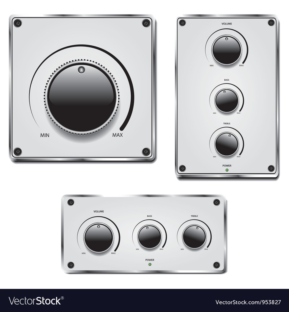 Fader and volume knob vector | Price: 1 Credit (USD $1)