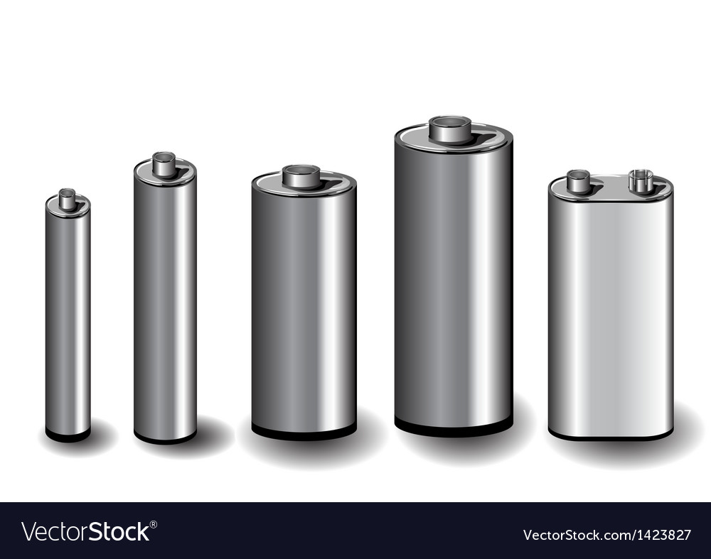Five batteries vector | Price: 1 Credit (USD $1)