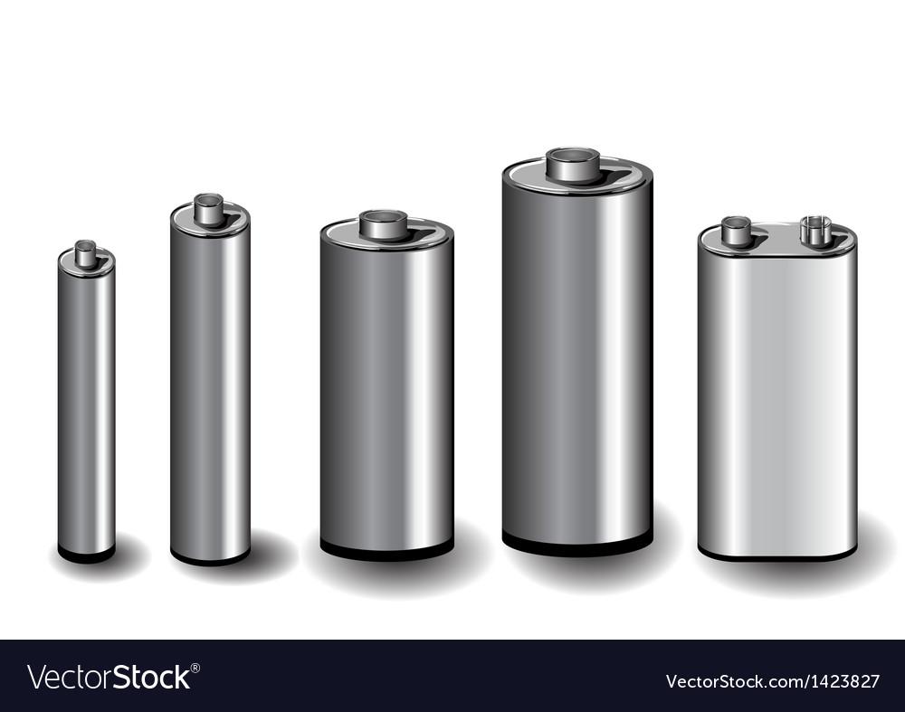 Five batteries vector | Price: 1 Credit (USD $1)